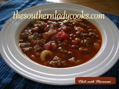 Chili is a favorite anytime with my family but really good during the fall and winter months. This is one way we like this great dish. 1 lb. ground beef 1 lb. ground turkey 1 regular can chili hot...