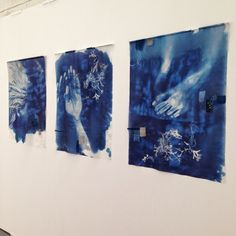 Hannah Lamb: Baptism, 2014 Silk, cyanotype, stitch