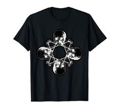 Skulls and Bones Pentagram Occult Wicca T-Shirt Halloween Shirt, Halloween Gifts, Halloween Outfits, Cool T Shirts, Funny Shirts, Bachelor Gifts, Valentines Gifts For Him, Novelty Shirts, Skull And Bones