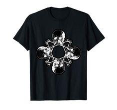 Skulls and Bones Pentagram Occult Wicca T-Shirt #tshirt #shirt #tees   #noveltyshirt #graphictee #tshirtdesign #amazon #clothing #funnyshirt #Wiccan #Occult #Skull #pentagram #Gothic #heavymetal #metalhead #valentinesday #valentinesgift