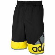 adidas Crazy Fresh Short - Men's - Black/Vivid Yellow
