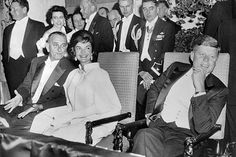 US President-elect John Fitzgerald Kennedy US First Lady Jacqueline Kennedy and US Vice-President Lyndon Johnson are all smiles on January 1961 at the Mayflower Hotel in Washington, D. during Kennedy's inauguration ball. Jfk And Jackie Kennedy, Kennedy Town, Us First Lady, Intimate Photos, John Fitzgerald, Us Presidents, Grace Kelly, The Past, Hollywood