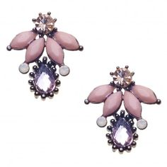 Laya Petal Diamanté Earrings