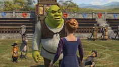 Antonio Banderas, Mike Myers, Eddie Murphy, and John Krasinski in Shrek the Third Dreamworks Studios, Dreamworks Animation, Away Movie, Fiona Shrek, Flushed Away, Maya Rudolph, Pencil Test, Princess Fiona, Bee Movie