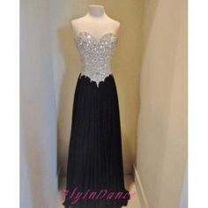 Elegant Prom Dresses A Line Sparkle Beading Evening Dresses Chiffon Prom Dress Shiny Black Party Gown For Teens