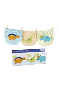 Baby Aspen 'Dinomite' Diaper Covers (3-Pack) (Baby Boys) available at #Nordstrom