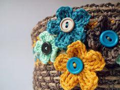 QS crochet: Kosz pełen kwiatów
