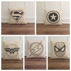 Vintage Superhero pillow covers- the perfect addition to your littles bedroom! Choose from 11 different hero pillow covers!  This listing is for