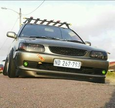 Toyota Tazz. Can you say LOW Import Cars, Toyota Cars, Modified Cars, Jdm, Dream Cars, Guns, Awesome, Weapons Guns, Weapons
