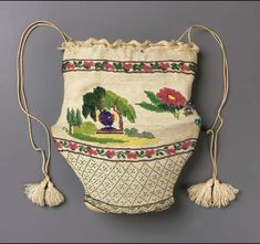 Bag | Museum of Fine Arts,beadwork French early 19th
