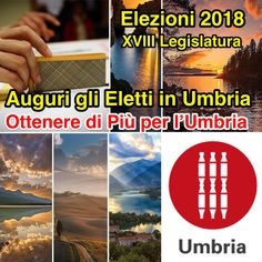 """Elezioni Politiche 2018 in Umbria, Claudio Ricci: Auguri ai 16 Eletti nella Regione e Lavorate """"Insieme"""" per Ottenere di più per l'Umbria."""