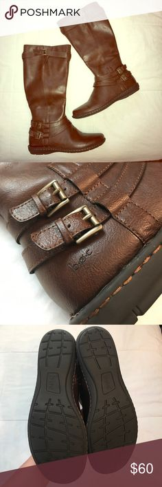 B.O.C. RIDING BOOTS Brand new! Chestnut brown riding boots with brass buckles | Zipper on inside of each boot b.o.c. Shoes