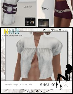 Three SL Group Gifts From Wicked 3 Gifts on the wooden table near the gift cards: Emery grape shorts, white Shelly blouse and Hailey amethyst bracelet. Store Name: Wicked Group:…