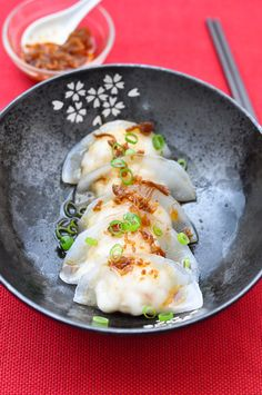 Asian Food Crystal Prawn Dumplings (Har-Gow) with XO Sauce