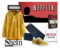 """Make it a SheIn Night"" by two-faced-honey ❤ liked on Polyvore featuring Spicher and Company, American Eagle Outfitters and adidas"