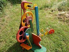 Wolle Natur Farben: Spinnrad selbstgebaut