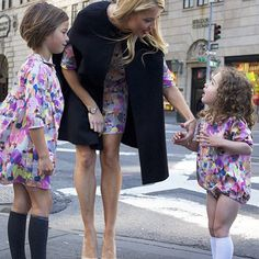 Such Great Heights Woman + Child apparel, Carnevale print in the Girl's  Dress, Women's dress, and Toddler Romper.