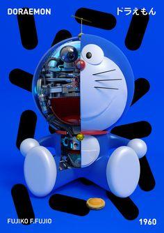 ILLUSTRATOR DISSECTS ASTRO-BOY AND FRIENDS IN NEW POSTER SERIES Poster Series, New Poster, Astro Boy, Blond Amsterdam, Doraemon, Graphic Design Illustration, Graphic Art, Graphic Posters, Unique Drawings