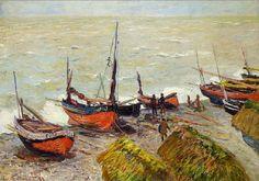 MONET Claude,1883 - Bateaux de Pêche : « Monet, je n'ai jamais rencontré un pareil metteur en place, une facilité si prodigieuse à saisir le vrai... » (Conversation entre CEZANNE et Emile Bernard,1904)