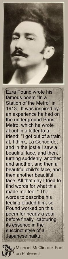 In a station of the metro essay