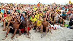 Brazilian fans gather on Copacabana Beach http://www.bbc.co.uk/newsround/28283150