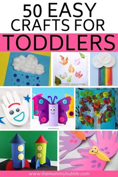 50 fun crafts for bored toddlers & The Mummy Bubble Fun crafts for toddlers to do at home! Simple ideas for arts and crafts to do with your toddler on rainy days The post 50 fun crafts for bored toddlers & The Mummy Bubble appeared first on Best Pins. Toddler Arts And Crafts, Spring Crafts For Kids, Easy Crafts For Kids, Baby Crafts, Bubble Crafts, Crafts Toddlers, Children's Arts And Crafts, Art Projects For Toddlers, Crafts For Babies