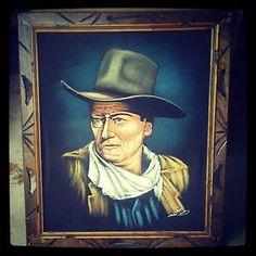 Black Velvet Painting of John Wayne The Duke Black Velvet Art   eBay