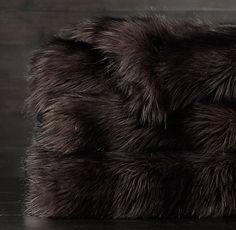 Exotic Faux Fur Blanket   Restoration Hardware