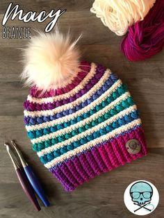 We present the Macy& Beanie Pattern! This fun, versatile and structured m . We present the Macy& Beanie Pattern! This fun, versatile and structured m . Bonnet Crochet, Crochet Beanie Pattern, Crochet Baby, Knit Crochet, Doilies Crochet, Crochet Kids Hats, Loom Knitting, Knitting Patterns, Crochet Patterns