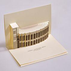 Arena di Verona As Roma, Paper Architecture, Architecture Design, Up Book, Design Competitions, Theatres, Pop Up Cards, Kirigami, Verona