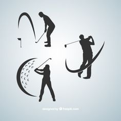 More than a million free vectors, PSD, photos and free icons. Exclusive freebies and all graphic resources that you need for your projects Golf Tattoo, Golf Art, Golf Quotes, Golf Humor, Silhouette Vector, Silhouette Cameo, Mens Golf, Sports Logo, Golf Tips