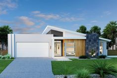 New South Wales Home Design - GJ Gardner make building your new home stress free. House Cladding, Facade House, Modern House Plans, Modern House Design, Modern Exterior, Exterior Design, Plans Architecture, House Plans With Photos, Kerala Houses