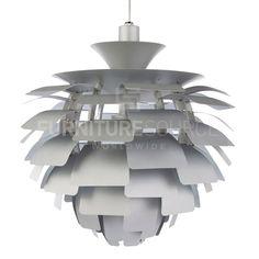 "Poul Henningsen Style Artichoke Pendant Ceiling Lamp, 22.8"" - Silver"