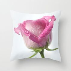 Photo Cushion Case, Pink Rose Photo Pillow Cover, Floral Home Decor, White Feminine Interior Design Accent, Pink Birthday Gift for Her Pink Pillow Cases, White Pillow Covers, White Throw Pillows, Decorative Pillow Covers, Toss Pillows, Accent Pillows, Photo Pillows, Pink Cushions, Pink Home Decor