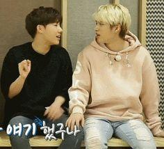 欸你別!怎麼就把我們昨晚的事在這講出來了呢討厭 #sunggyu #woohyun #woogyu #showtime 小手一搭嬌羞感滿視窗飛