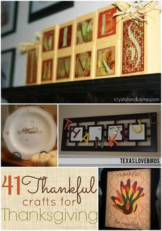 Thankful Crafts and activities for Thanksgiving; fall idea and decor; turkey crafts; Christmas gifts