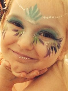 Children's face painting mermaid design done by me