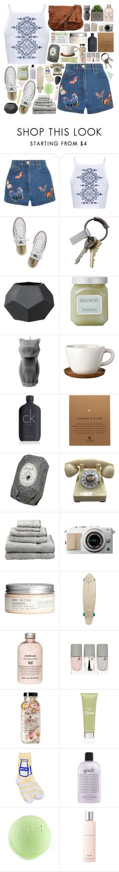 """""""Compass"""" by lucidmoon ❤ liked on Polyvore featuring Valentino, Topshop, Converse, CB2, Laura Mercier, PyroPet, Höganäs Ceramic, Calvin Klein, Dogeared and Fresh"""
