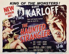 Boris Karloff lobby card from The Haunted Strangler.  1958