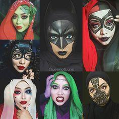 Malaysian makeup artist uses hijab & makeup to recreate Disney & DC looks.