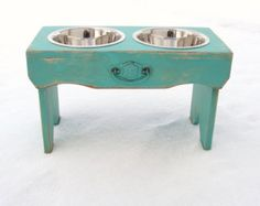Elevated Dog Feeder Personalized Monogram Bowl Holder Pets Feeding Stand Pet…
