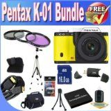 Who Sells Pentax K-01 16MP APS-C CMOS Compact Method Digicam With eighteen-55mm and fifty five-200mm Lens (Yellow) + Extended Life Battery + 16GB SDHC Class ten Memory Card + USB Card Reader + Memory Card Wallet + Deluxe Circumstance w/Strap + Shock Proof Deluxe Case + Mini HDMI to HDMI Cable + three Piece Expert Filter Package + Professional Total Measurement Tripod + Accent Saver Bundle! On Amazon - http://buyingmanual.com/who-sells-pentax-k-01-16mp-aps-c-cmos-compact-metho