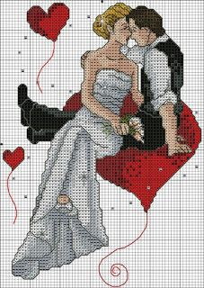 Wedding cross stitch charts free 19 From 24 Wedding Cross Stitch Charts Free Cross Stitch Heart, Cross Stitch Flowers, Cross Stitch Kits, Counted Cross Stitch Patterns, Cross Stitch Designs, Cross Stitch Embroidery, Embroidery Patterns, Wedding Cross Stitch Patterns, Le Point