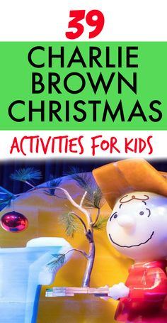 39 fun Charlie Brown Christmas activities for kids and fun holiday activities for kids featuring Christmas Charlie Brown. #Christmaslessons #lessonplans #education #holidaysforkids