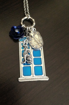 Doctor Who Tardis Necklace Rose Tyler Bad Wolf. $22.50, via Etsy. soooo very much want it!!
