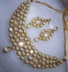 Elegant Royalty #jewellery #kundan #polki #goldplatedjewelery #wedding…