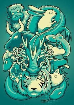 Chinese Zodiac by angga tantama