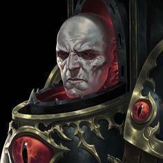 Horus Lupercal by Adrián Prado Warhammer 40k Art, Warhammer Models, Warhammer Fantasy, The Elder Scrolls, Cyberpunk, Chaos Legion, Sons Of Horus, The Horus Heresy, The Grim