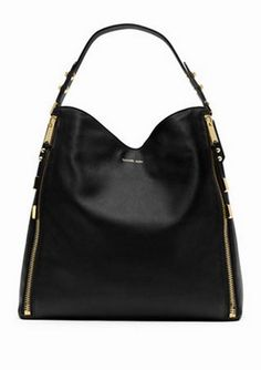 Classically chic - Michael Kors Miranda Zipper Shoulder Bag ($995.00)