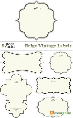Beige Vintage Labels Vector